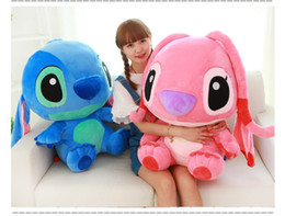 Wholesale Pillow Toy Stitch - large 35cm 45cm 55cm creative stitch plush toy soft hugging pillow toy ,birthday gift