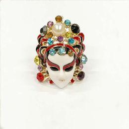 Wholesale Chinese Cloisonne - Han edition fashion set auger Chinese Peking Opera Peking Opera blues hipster ms ring ring adorn article