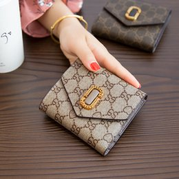 Wholesale Miniature Photos - 2017 New Wild Flower Folding Leather Wallet Female Short Section Of The Mini Miniature Wallet