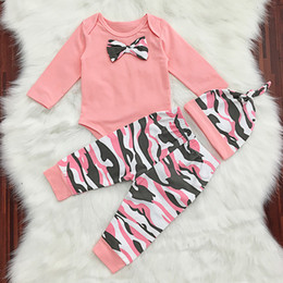 Wholesale Wholesale Christmas Outfits - Christmas Newborn Santa Claus Tops Baby Boys Girls Romper Playsuit + Long Pants Clothes Outfits Christmas Sets