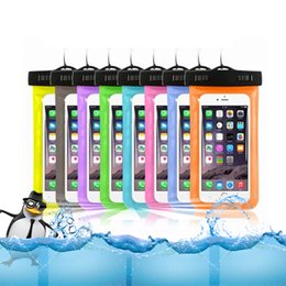 iphone water resistant 2018 - Hot sale Transparent outdoor PVC plastic waterproof case sport protection universal dry case for iphone6 6P S8 any smartphone