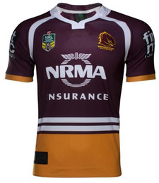 Wholesale High National - Free shipping!NRL National Rugby League Brisbane red new jersey High-temperature heat transfer printing jersey Rugby Shirts (stitched)
