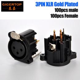 Wholesale Wholesale Xlr Cables - TP-C05 200pcs Plastic Case 3-pin DMX-512 Daisy Chain Socket Gold Plate Male 3-Pin Female XLR Turnaround DMX Cable Terminator