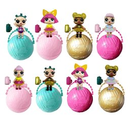 "Wholesale Fun Child - 2017 Girls 3"" Mini Surprise Dolls Open Eggs Dolls Ball Children Anime Action Figure Kids Toys Fun Surprise Egg Christmas Gifts for girls"