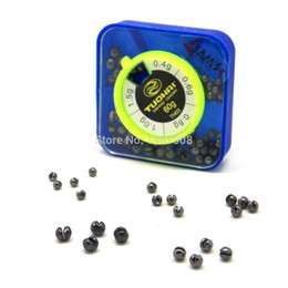 Wholesale Wholesale Fish Leader - Wholesale- SAMS Fishing 76pcs Removable Split Shot Lead Weight Pesca Accessories Fish Tackle Leader Drop Black Fishing Sinker Weight Kits