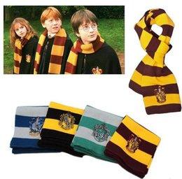 Wholesale Striped School Scarves - Factory Price Harry Potter Scarf Gryffindor School Unisex Knitted Striped Scarf Gryffindor Scarve Harry Potter Hufflepuff Cosplay Scarf