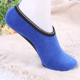 Wholesale Woman Yogo - Wholesale-Soft Thicken Warm Women Socks Plush Solid Room Yogo Sock woman female Elastic Floor Sockings Slippers fit Size 35-40cm DP873947