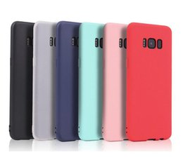 Wholesale Iphone 5s Color Cases - Ultra-thin Candy Color Matte Cover Soft TPU Silicone Case for iPhone 5 5S SE 6 6S 7 Plus iPhone7 Samsung S8 Plus S7 S7 edge