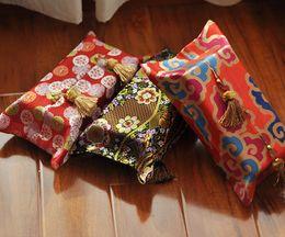Wholesale Chinese Wedding Beds - Wholesale- Freeshipping Chinese Style Cotton Customized Wedding Room Car Hotel Bedding Decorative Embroidery Tissue Box Napkin Holder Cover