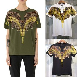 Wholesale Fashion Show Magazine - 2017 Marcelo Burlon shirts Men Milan MB Feather Wings teeshirt Men Women Couple Fashion Show RODEO MAGAZINE tshirts Goros camisetas tee