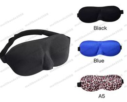 Wholesale Padded Blindfold - 2017 NEW Travel 3D Eye Mask Sleep Soft Padded Shade Cover Rest Relax Sleeping Blindfold FREE shipping MYY