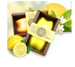 Wholesale Wholesale Lemon Oil - Factory direct custom wholesale wholesale natural lemon Thai pure handmade soap whitening moisturizing moisturizing essential oil soap