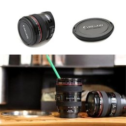 Wholesale Thermal Lens Mug - Fashion High cover lens cup Canons Coffee Mug Photographers Novelty Gifts Non thermal insulation water cup IA753