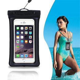 Wholesale Cell Armband Wallet - PVC Floating Waterproof Pouch Transparent kayak Cell Phone Case Cover Bag with Armband for Iphone 7 plus
