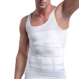 Wholesale men s body belt - Mens belly belt Powerful Slimming Abdomen vest Body Shaper Sculpting Compression Girdle Belley Buster Shapewear Underwear vest