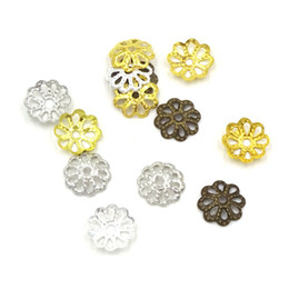 Canada 7mm Fleur Perles Caps Artisanat Fabrication de Bijoux Materiale Per Bigiotteria Perles Accessoires 1000 Pcs Or Argent Bronze Offre