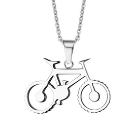 Wholesale bicycle chain links - Love To Ride Cyclist Gift Handmade Silver Bicycle Necklace in Stainless Steel Bike Necklace with 20'' Free Chain