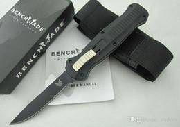 Wholesale Double Edge Knives - Benchmade Infidel BM 3310 3300 3300BK single edge double action 440 blade folding camping hunting survive knife 1PCS