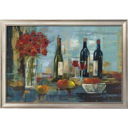 frutas arte abstracta pinturas a óleo Desconto Pinturas a óleo handmade por Silvia Vassileva Frutas e Vinho arte abstrata still life Decoração da parede de alta qualidade