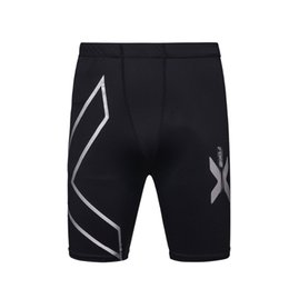 Wholesale Workout Clothes For Men - Wholesale- Summer Running Sport Mens Tight Compression Shorts Gym Fitness Clothing Workout Wicking Short Pant Homme for Men