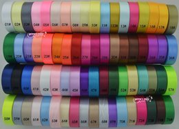 """Wholesale Satin Rolled - wholesale 1""""(25mm) satin ribbon,25yards,5 rolls total 125yards. 120 colors can option"""