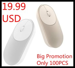 windows mini computers Coupons - Wholesale-Xiaomi Mi Mini Wireless Mouse Aluminium Alloy ABS Material Support 2.4Ghz Wifi Bluetooth 4.0 For Windows 8 Win10 Laptop Computer