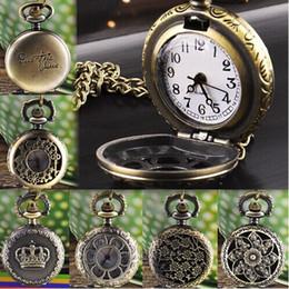 Wholesale Retro Vintage Watches Men - Delicate watch men Unisex Luxury Hot Fashion Hot Fashion Vintage Retro Bronze Quartz Pocket Watch Pendant Chain Ju23