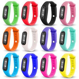 Wholesale Pedometer Step Counter - Digital LCD Pedometer Run Step Walking Distance Calorie Counter Watch Bracelet