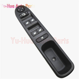 Wholesale Driver Control - 6554.KT For Peugeot 307 307CC 307SW Black Car Auto Driver Side Front Window Control Switch