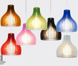 Wholesale Modern Lamps Restaurants - Hot Modern brief pendant light bar lamp restaurant lights Acrylic single head Pendant Lamps Multi color