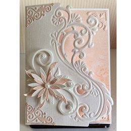 Wholesale Embossing Paper - Metal Cutting Dies Border Lace Cover Flower Scrapbook Card Paper Craft Home Wedding Party Decoration Embossing Stencil Punch