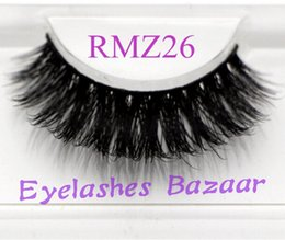 Wholesale Siberian Mink Eyelash Extension - 3pcs lot RMZ26 100% real siberian 3d mink fur strip false eyelash long individual eyelashes mink lashes extension