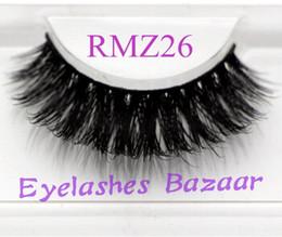 Wholesale Siberian Mink Eyelash Extension - 3pcs lot RMZ26 100% real siberian 3d  strip false eyelash long individual eyelashes mink lashes extension