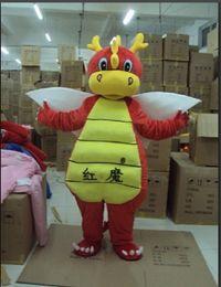 Wholesale Giraffe Mascots - Red Devil Dragon Blue clothes giraffe Blue clothes little boy mascot costumes props costumes Halloween free shipping