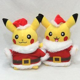 brinquedos de papai noel Desconto Novo Estilo Pikachu Brinquedos de Pelúcia Presente de Natal para Crianças 28 cm Kawaii Brinquedos Pikachu Recheado de Pelúcia Boneca Bebê Crianças brinquedo