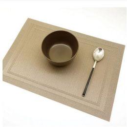 Wholesale Slip Resistant Table Cloth - Wholesale- Placemat Pvc Dining Table Mat Disc Pads Bowl Pad Coasters Waterproof Table Cloth Pad Slip-resistant Pad EJ878333