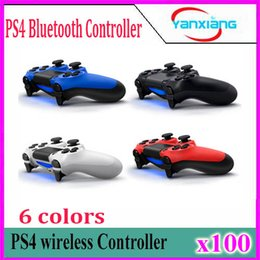 Wholesale Vibration Handle - High Quality For PS4 Game Console Gamepad Wireless Bluetooth Game Handle Controller Professional Gamepads with Vibration Boy 100pcs YX-PS4-1