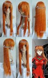 Wholesale Evangelion Wig - Free Shipping>>>EVANGELION ASUKA ORANGE straight cosplay wig long 80CM