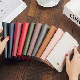 Wholesale Wholesale Envelopes For Sale - Hot Sale 2017 Fashion Candy Color Ladies Wallets PU Leather Credit Card Tote Envelope Clutch Bags For Women Wallet Purse Coin bag Pouch
