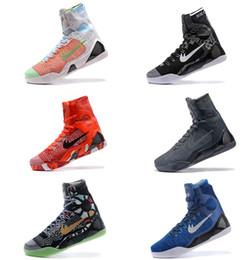 Wholesale Kb Shoes Elite - High Quality Kobe 9 Elite Black Mamba Blackout BHM replicas Christmas Men Basketball Shoes KB 9 IX High Sneakers With Box