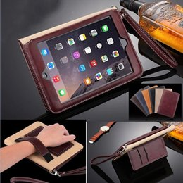 "Wholesale Ipad Mini Belt Case - For iPad Pro 10.5"" 9.7"" Luxury Leather Card Slots Stand Flip Case for iPad mini 4 Cover with Hand Belt Holder"
