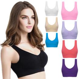 34b sport bh größe online-Außenhandel doppelte Mädchen nahtlose Sport-BHs keine Felgen Weste und nicht gekennzeichnete Yoga-Toner Unterwäsche CA317