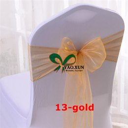 Wholesale Use Tie - Many Colors Chair Tie \ Organza Chair Sash Used For Chair Cover