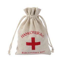 Wholesale Breast Holder - Hangover Kit Bags Multi Function Storage Bag High Quality Beam Port Fashion Classics Cotton Wedding Favor Holder Package 1 09gf J R