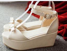 2019 schwamm sandalen fersen Sponge dicken unteren Sandalen High-Heels Keil Designer Schuhe im Sommer günstig schwamm sandalen fersen