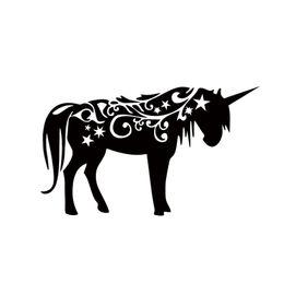 Wholesale Fantasy Decals - Unicorn Vinyl Decal Sticker Car Window Wall Bumper Fantasy Mythology Horse JDM