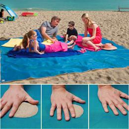 Wholesale Inflatable Beach Mat - SAND-FREE MAT Blue Green Pink 200*200cm sand free beach mats new sandless mat