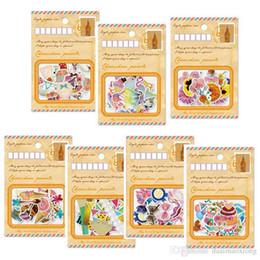 Wholesale Diy Envelope Card - 60 pcs bag gold foil envelope sticker package Scrapbook Notebook decoration DIY Handmade Sticker Gift Card Children's gift