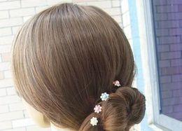 Wholesale diamante hair accessories - Hair Accessories Pearls Jewelry Wedding Bridal Pearl Hairpins Flower Crystal Rhinestone Diamante Hair Pins Clips Bridesmaid Women Jewellry