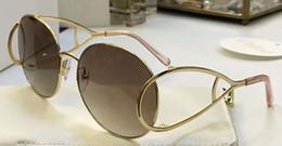 2019 pêssegos de ouro Mulheres CE124 S óculos de sol de pêssego ouro Brown Gradiente óculos de sol de luxo novo com caixa